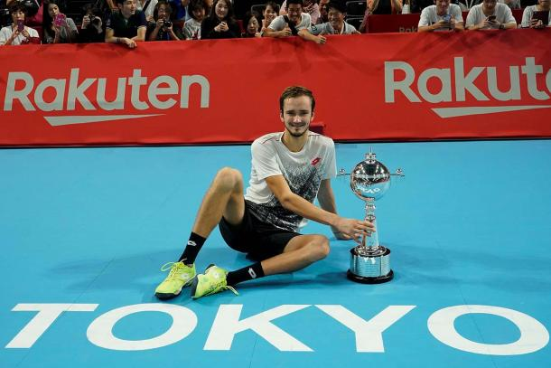 Daniil Medvedev won his third title, and biggest yet, in Tokyo. Photo: Japan Open