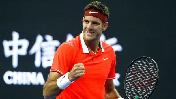 Juan Martin del Potro clinched his spot in London with a strong performance in Beijing. Photo: Reuters