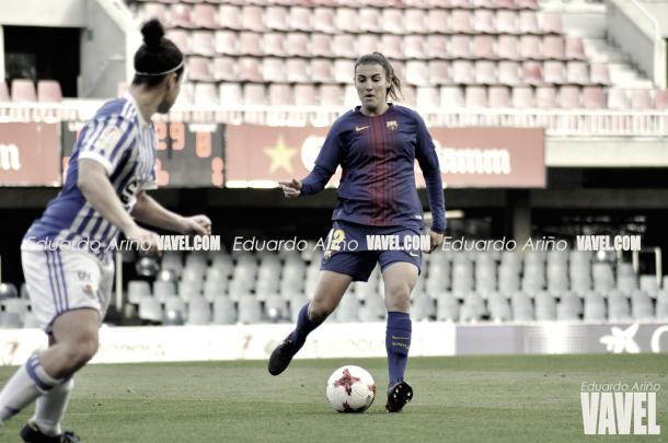 Patri Guijarro contra la Real Sociedad | Foto de Eduardo Ariño, VAVEL