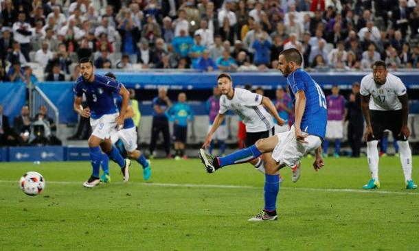 Bonucci's penalty took Germany to penalties at Euro 2016 (photo:reuters)