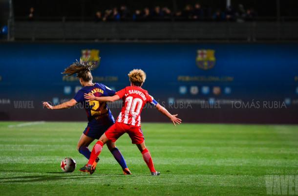 Partido de vuelta disputado en la Ciudad Deportiva Joan Gamper | Foto: Tomás Rubia - VAVEL