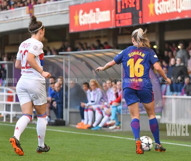 Duggan en el partido ante el Lyon | Foto: Beto Fotógrafo - VAVEL
