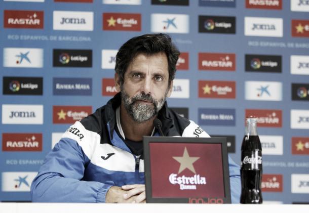 Quique Sánchez Flores fala à imprensa antes da partida | Foto: Divulgação/RCD Espanyol