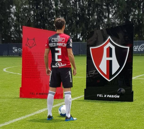 Pareja portará el número 2 / Foto: Atlas FC