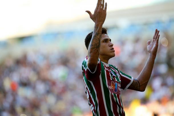 Pedro marcou o gol que abriu o placar no Maracanã (Foto: Lucas Merçon/Fluminense FC)