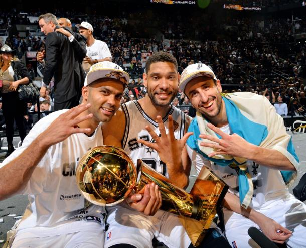 Tony Paker, Tim Duncan y Manu Ginóbili: El Big Three de San Antonio | Foto: NBA