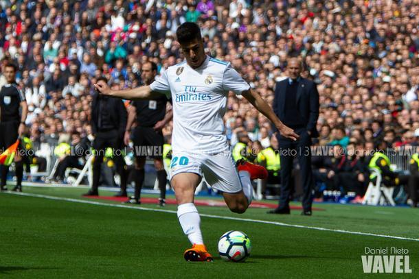 Asensio durante el partido   Foto: Daniel Nieto (VAVEL)