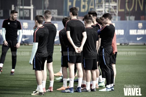 Dinámica de entrenamiento en el filial azulgrana | Foto de Noelia Déniz, VAVEL