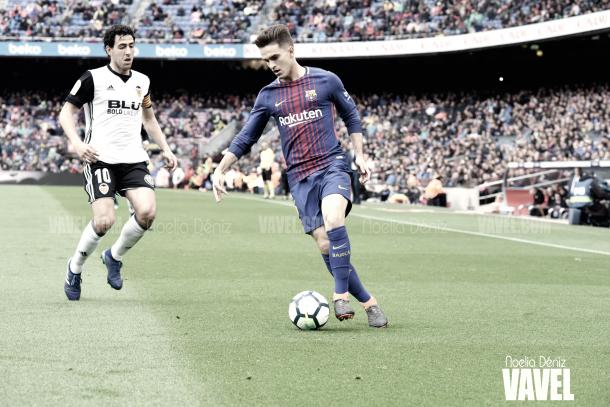 Denis Suárez y Parejo en el Barça-Valencia | Foto de Noelia Déniz, VAVEL