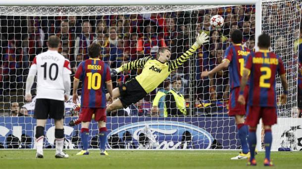 Su mejor gol en el fútbol de clubes, anotado en la final de la Champions al United. Foto: UEFA