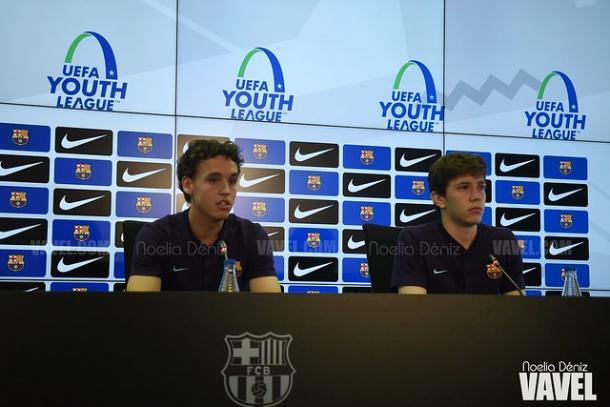 Jandro Orellana y Sergi Rosana en la sala de prensa. FOTO: Noelia Déniz