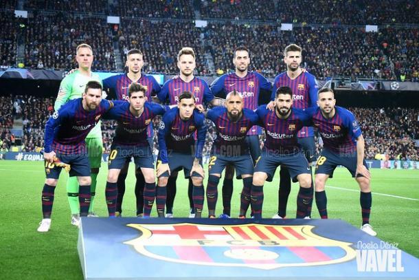Once titular del FC Barcelona ante el Liverpool. FOTO: Noelia Déniz