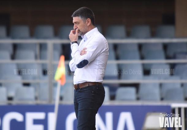 García Pimienta, entrenador del Barça B. FOTO: Noelia Déniz
