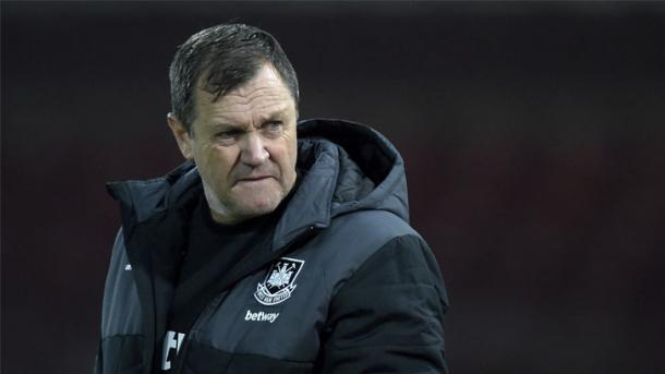 Above: Terry Westley leading his West Ham development side | Photo: whufc.com
