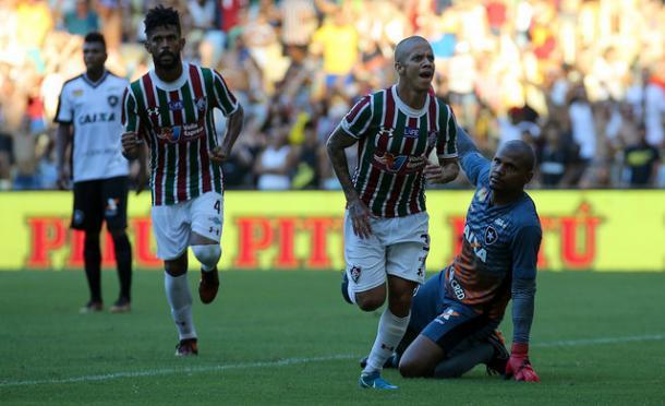 Marcos Júnior igualou Pedro na artilharia do Carioca (Foto: Lucas Merçon/Fluminense FC)