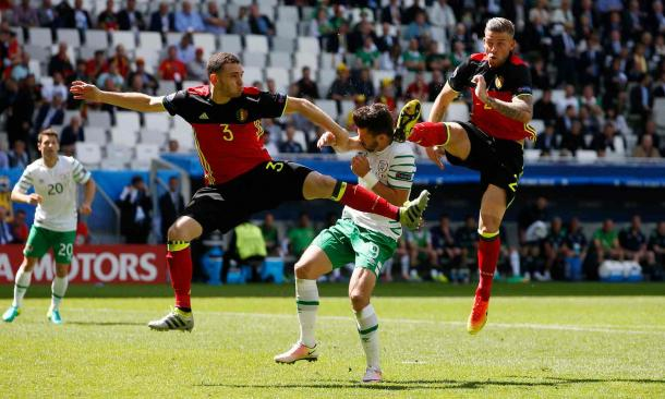 The clean-sheet against Ireland was Belgium's first at the Euro's for 18 years (Photo: Reuters)