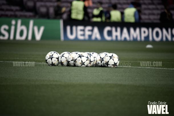 Todo preparado en el césped del Camp Nou | Foto de Noelia Déniz, VAVEL
