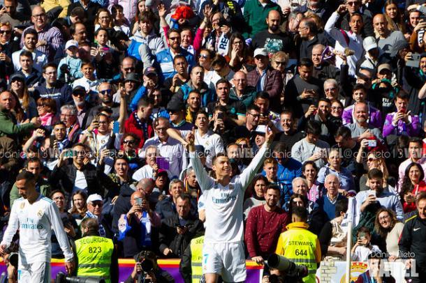 Ronaldo celebrando el gol   Foto: Daniel Nieto (VAVEL)