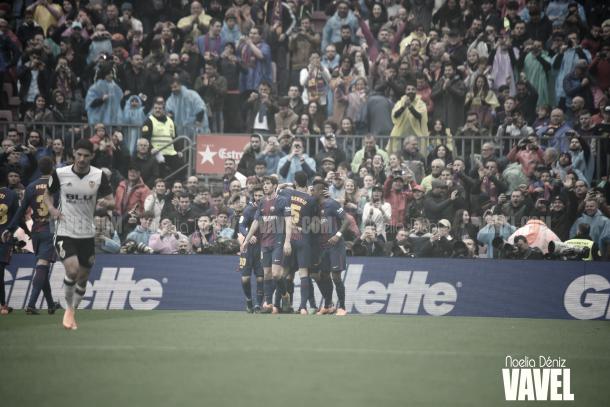 Celebración del primer gol | Foto de Noelia Déniz, VAVEL