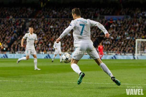 Cristiano Ronaldo en el partido de cuartos frente a la Juve | Foto: Daniel Nieto (VAVEL)
