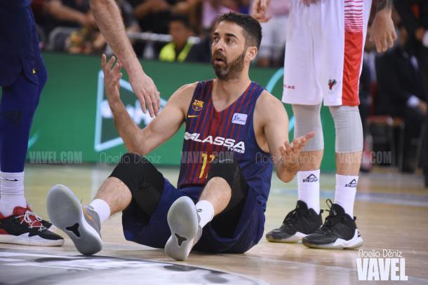 Este podría haber sido el último partido de Navarro en el Barça. | Fotografía: Noelia Déniz (VAVEL)