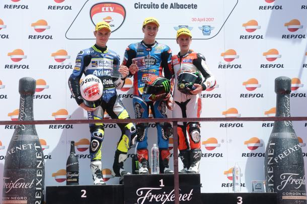 Primera carrera, primeros 16 puntos de la temporada. Foto: FIM CEV Repsol.