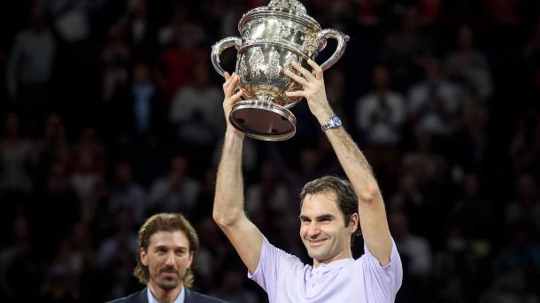 Roger Federer won his eighth Basel title last year and will look for number nine this week. Photo: Getty Images