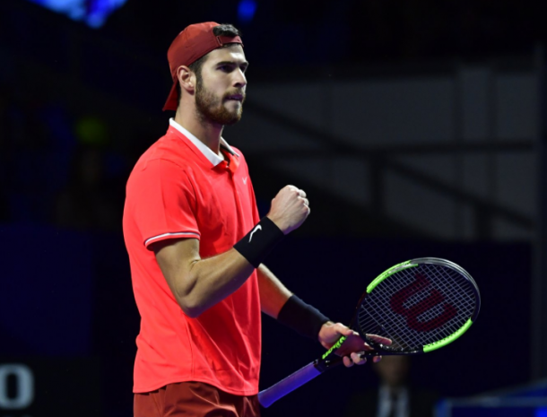 Khachanov scored one of the most significant wins of his career last week on home soil. Photo: Kremlin Cup