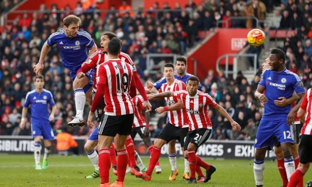 Branislav Ivanovic netted the header that won Chelsea the game on Saturday. (John Sibley: Reuters)