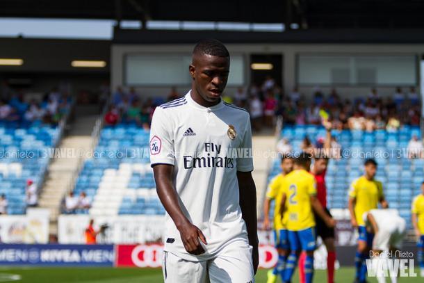 Vinicius durante un partido con el Castilla | Foto: Daniel Nieto (VAVEL)