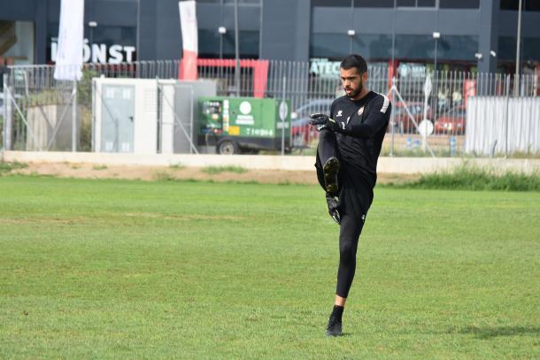 Pol Freixanet en el entrenamiento de este lunes | Foto: CF Reus