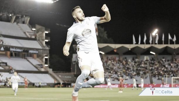 Maxi Gómez celebrando un gol ante el Getafe la pasada temporada. | Fuente: RC Celta