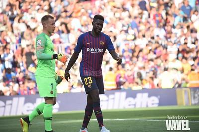Umtiti en imagen de archivo con el Barça. Foto: Noelia Déniz VAVEL