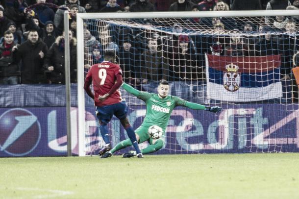 Traoré abrió el marcador ante su afición a la media hora. Foto: (asmonaco.com)