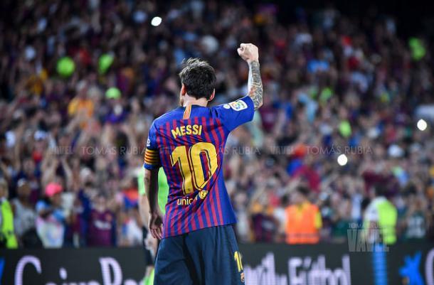 Imagen de archivo de Leo Messi celebrando un gol. FOTO: Tomás Rubia