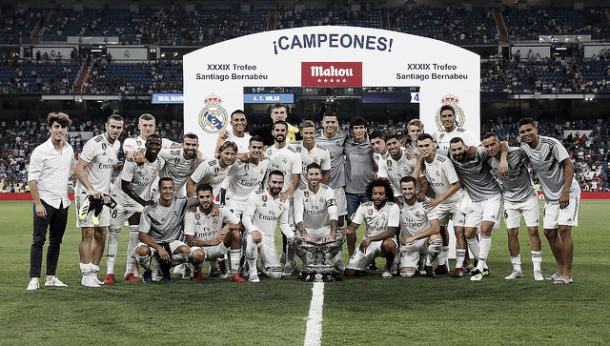 El Trofeo Bernabéu se quedó en casa | Foto: Real Madrid C.F.