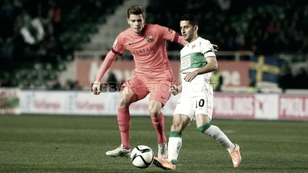 Gumbau en su debut con el FC Barcelona | Fuente: FC Barcelona