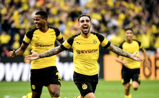 (B. Dortmund 4-3 Augsburg   Foto: @BVB)