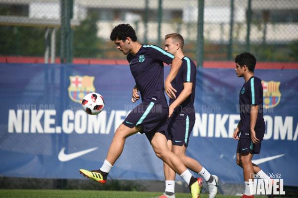 Carles Aleñá en el entrenamiento | Foto de Noelia Déniz, VAVEL