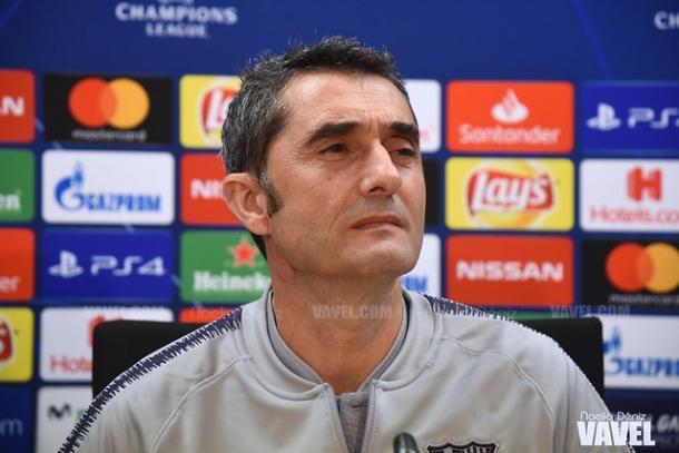 Ernesto Valverde durante una rueda de prensa. FOTO: Noelia Déniz