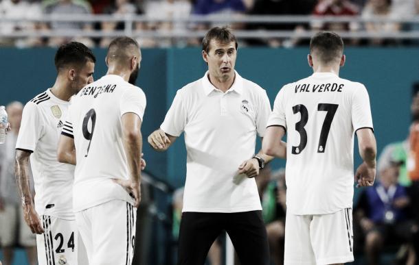 Julen Lopetegui ya consiguió su primer triunfo   Foto: Real Madrid C.F.