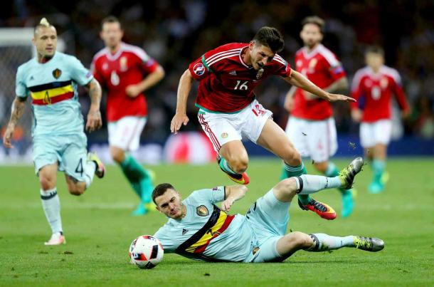 Vermaelen will be suspended for the Wales game (Photo: Richard Heathcote/Getty Images)