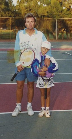 "A story of incredible courage: Yuri Sharapov dropped everything and moved overseas with his six-year-old daughter to help her pursue a career in tennis after many people, especially him, recognized her talent from an early age. | Photo from ""Unstoppable: My Life So Far,"" courtesy of Maria Sharapova"