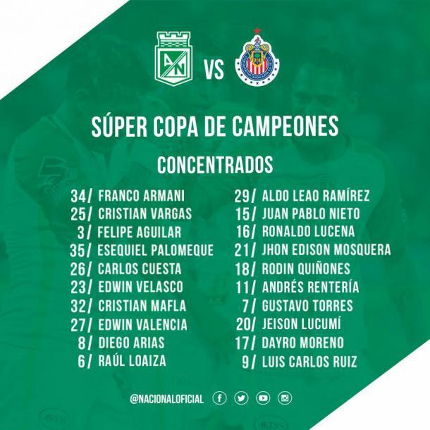 Atlético Nacional se lleva la Supercopa de Campeones ante Chivas