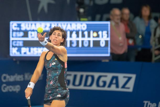 Carla Suarez Navarro was unable to find any chances today | Photo: BGL BNP Paribas Luxembourg Open
