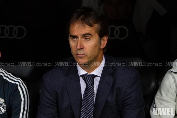Julen Lopetegui en el banquillo del Bernabéu | Foto: Daniel Nieto (VAVEL)
