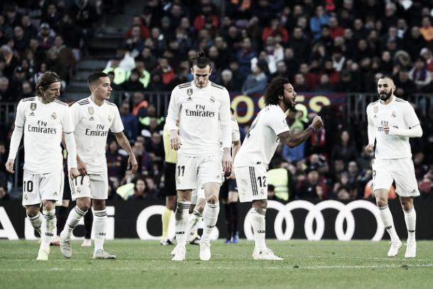 Dura caída del Real Madrid vs. Barcelona | Foto: Real Madrid C.F.