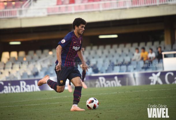 Carles Aleñá durante un partido con el filial | Foto: Noelia Déniz (VAVEL)
