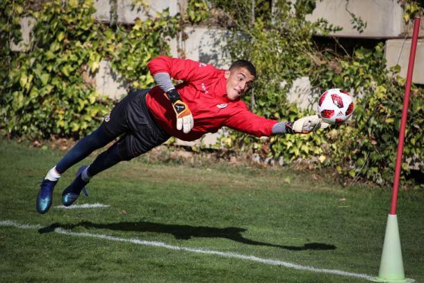 Miguel Morro durante un entrenamiento | Fotografía: Ricardo Grande (VAVEL)