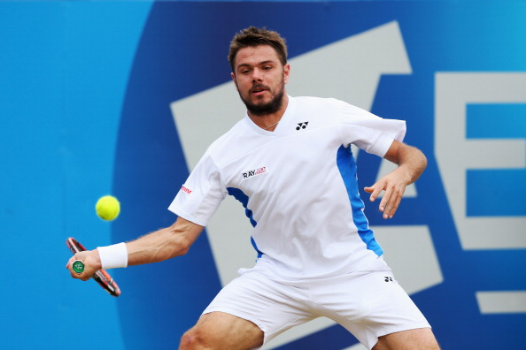 Stan Wawrinka in action against Grigor Dimitrov at Queens in 2015 (Photo: Matthew Stockman/Getty Images)